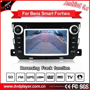GHz Car DVD GPS Navigation Android 5.1 / 1.6 pour Smart Fortwo Car Audio avec connexion WiFi