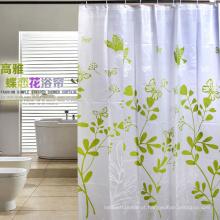 Alta qualidade 100% poliéster impermeável cortina de chuveiro para casa de banho (DPH7090)