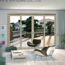 Fenêtre coulissante en aluminium Push-Pull lisse avec verre trempé creux (FT-W85)
