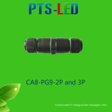 Imperméable à l'eau de 3 à 5 broches Connecteur de fil / câble de connexion pour lampadaire d'éclairage