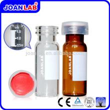 Frascos de amostras de autocontrole de vidro JOAN Lab com tampa de parafuso de plástico