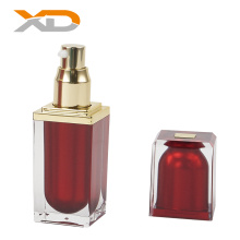 Luxury 15ml 30ml 60ml thick wall square cosmetic  acrylic spray bottle with good mist