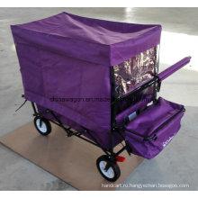 Четыре колеса складной тележки с палаткой