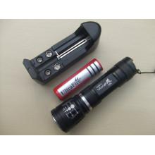 High Power Zoom in / out Wiederaufladbare CREE LED Taschenlampe