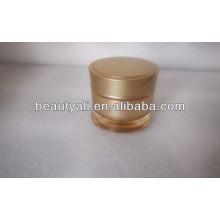 Round Waist Plastic Cosmetic Jar 15ml 30ml 50ml