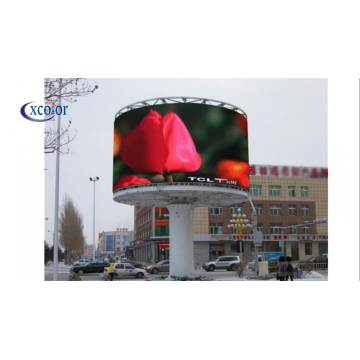 Video wall per display a LED curvi per esterni