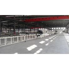 Chaîne de production de tuyau de PE d'approvisionnement en eau de gaz Chaîne d'extrusion de tuyaux de HDPE
