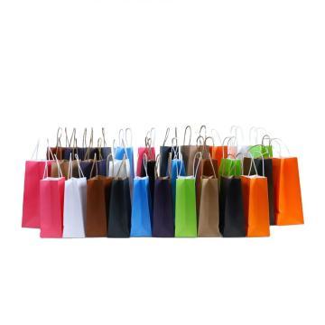 OEM Factory brown kraft paper bag brand paper bag flat handle kraft paper bag