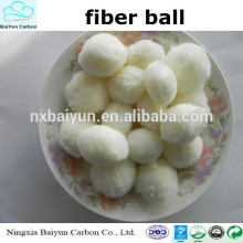 Boule de fibre modifiée / média filtrant de boule de fibre pour le filtre d'eau