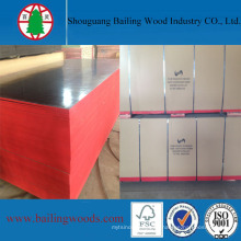 Pintura en color rojo Black Film Fazed Plywood 18mm