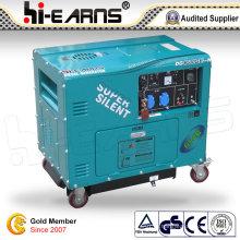 Сертификация CE Супермолчальный дизельный генератор (DG6500SE-N)