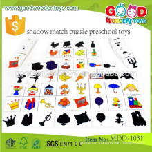 continued selling wooden toys puzzle OEM shadow match puzzle preschool toys MDD-1031