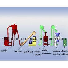 80-1000kgs / H Stroh Holz Pellet Extruder