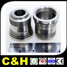 Piezas de torneado CNC de acero inoxidable / aluminio / latón / metal personalizadas