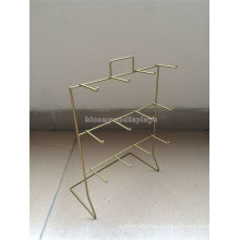 Retail Store Advertising Equipment Wholesale Bronze Countertop 12 pegs Wire Display Racks For Shows
