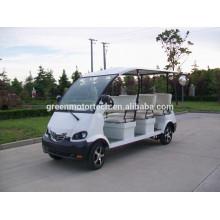 Elektrischer Golfwagen mit 8 Sitzen, Sightseeingbus-Shuttlebus benutzt im Hotel