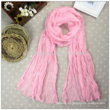 Crepe dyeing long polyester woven scarf