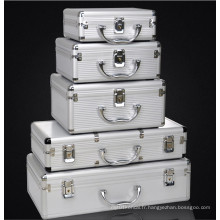Coffret personnalisable d'équipement en alliage d'aluminium de haute qualité avec une taille différente