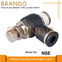 Raccord de tuyau pneumatique en plastique de contrôle de vitesse de débit NSE