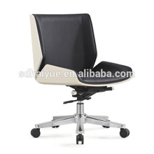 2017 Haiyue Furniture New Leisure Black Synthetic Leather Mid-Back Executive Chairs Office Chair HY3009