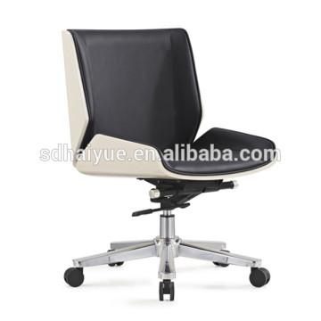 2017 Mobiliário Haiyue Novo Lazer Preto Couro Sintético Mid-Back Executivo Cadeiras Cadeira de Escritório HY3009