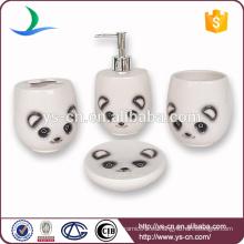 Juego de baño de cerámica de diseño nuevo, accesorio de baño panda