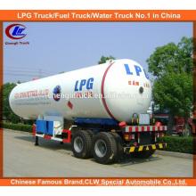 Heavy Duty 2 Achsen 40cbm / 20t LPG Kochen Gas Tanker Semi Trailer zum Verkauf