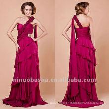 Bainha Handmade Flower Tiered One Shoulder Evening Dress Party Gown