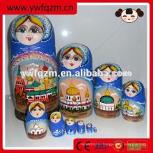 Оптовая Дешевая Деревянная Расписная Кукла