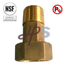 Acoplamiento de medidor de agua de latón bajo de NSF61 aprobado