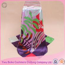 Malásia nova impressão digital popular lenço de seda de seda personalizado quadrado