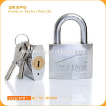 2015 Yalian Cheap Chrome Plated Computer Key Iron Padlock