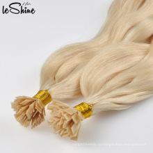 Лучшее Качество Двойная Нарисованная Плоская Подсказка Наращивание Волос