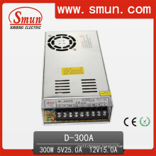 D-300A 5VDC 25A/12V 15A Dual Output Switching Power Supply