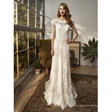 Um vestido de noiva nupcial de renda de linha