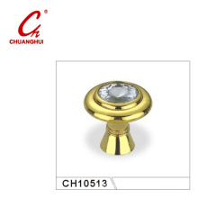 Furniture Hardware Accessories Glod Cabinet Knob with Crystal