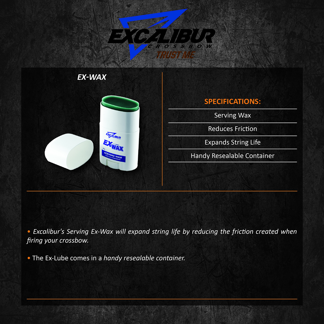 Excalibur_Ex_Wax_Product_Description