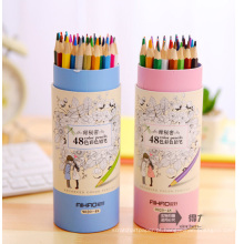 Natural Reciclar lápis de madeira de cor 48 pcs lápis lápis colorido
