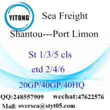 汕頭市港海貨物ポート リモンに出荷