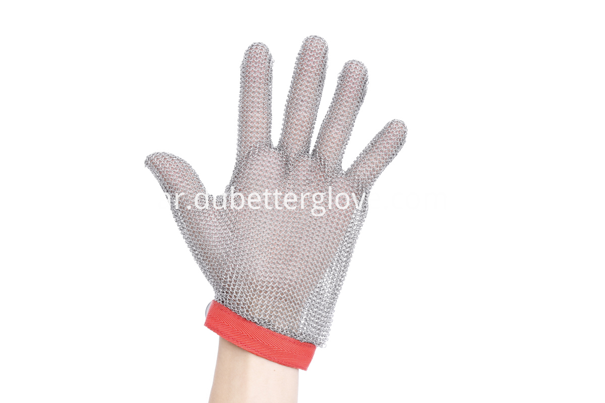 Dubetter chain mail gloves textile strap