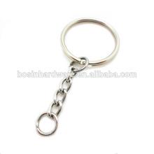 Moda de alta qualidade de metal atacado anel dividido com cadeia