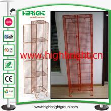 Recipiente de almacenamiento de malla de alambre de acero de revestimiento de plástico en polvo