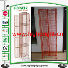 Plastic Powder Sprayed Coating Steel Wire Mesh Storage Bin Locker