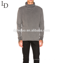 New arrival grey blank high neck cotton mens pullover hoodie