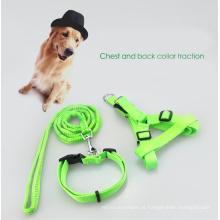 Chicote de fios supremo profissional da trela do cão ajustável com curvatura para grandes cães médios do XL