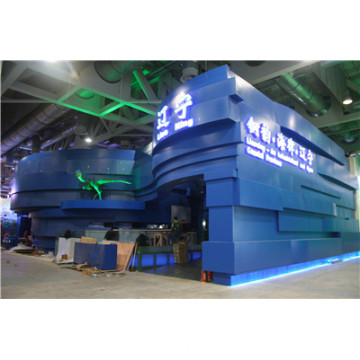 Blue Color Aluminium Honeycomb Panels for Shanhai Expo Exhibition Decoration