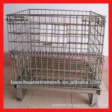 Verzinkte Karton-Mesh-Käfige mit Rädern