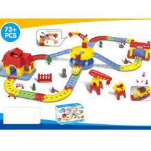 Crianças divertido bateria operado trem trilha conjunto brinquedo (h1436092)