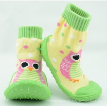 hot sale cartoon baby socks with rubber sole baby socks shoes