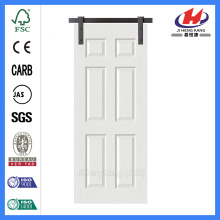 JHK-006 Panel Interior Door White Primer Barn Door
